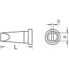 Weller LT-B rövid, kétoldalt csapott, véső formájú pákahegy, forrasztóhegy 2.4 mm