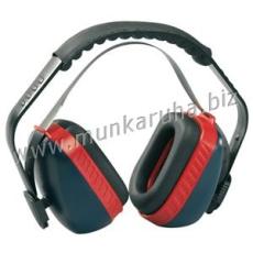 Earline® MAX 700 kék-piros fültok szabályozható, párnázott fej- vagy tarkópánt funkcióval (SNR 30dB)