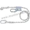 Cado® Lock szett: 2 m munkahelyzet-beállító, fonott kötél, hossz-szabályzó, 2 csavaros karabiner