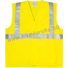 Coverguard Fluo jól láthatósági mellény,1 kereszt, 1 hosszanti csík, sárga