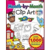 Month-by-Month Clip Art with CD