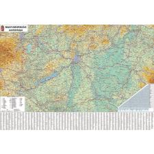 Stiefel Falitérkép, 70x100 cm, fémléces, Magyarország autótérképe, STIEFEL térkép