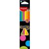 MAPED Color`Peps Fluo színes ceruza készlet, háromszögletű, 6 különböző szín