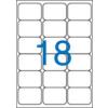 VICTORIA Etikett, univerzális, 63,5x46,6 mm, VICTORIA, 1800 etikett/csomag