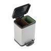 VEPA BINS Szelektív hulladékgyűjtő, külsőleg fém, belsőleg műanyag, 2x11 l, VEPA BINS, szürke