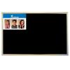 VICTORIA Krétás tábla, fekete felület, nem mágneses, 30x40 cm, fakeret, VICTORIA