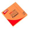 APLI Öntapadó jegyzettömb, 75x75 mm, 100 lap, APLI, neon narancs