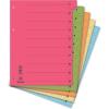 DONAU Elválasztó lap, karton, A4, mikroperforált, DONAU, vegyes színek