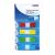 DONAU Jelölőcimke, műanyag, 4x35 lap, 12x45 mm, DONAU, vegyes szín