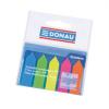 DONAU Jelölőcimke, műanyag, nyíl forma, 5x25 lap, 12x45 mm, DONAU, neon szín