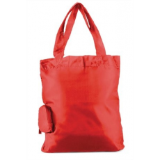 . Bevásárlótáska, összehajtható, piros