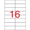 APLI Etikett, lézernyomtatókhoz, 105x37 mm, APLI, 4000 etikett/csomag