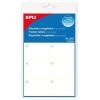 APLI Etikett, 34x53 mm, fagyasztható, kerekített sarkú, A5 hordozón, APLI, 60 etikett/csomag
