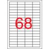 APLI Etikett, univerzális, 48,5x16,9 mm, eltávolítható, kerekített sarkú, APLI, 6800 etikett/csomag