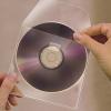 CD tartó zseb,antisztatikus béléssel, öntapadó, 127x127 mm, 3L