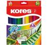 KORES Akvarell ceruza készlet, hegyezővel, ecsettel, KORES, 24 különböző szín hegyező