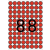 APLI Etikett, 16 mm kör, színes, A5 hordozón, APLI, piros, 704 etikett/csomag