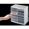 FELLOWES CD-tároló, automata kiemelőrendszerű, 30+18 db-os, FELLOWES