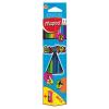 MAPED Color`Peps színes ceruza készlet, háromszögletű, hegyezővel, 12 különböző szín