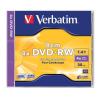 Verbatim DVD+RW lemez, 8 cm, újraírható, 1,4GB, 4x, normál tok, VERBATIM
