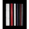 FELLOWES Spirál, műanyag, 12 mm, 56-80 lap, FELLOWES, fehér