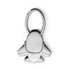 . Kulcstartó, repülő formájú, fém, ezüst