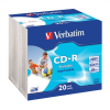 Verbatim CD-R lemez, nyomtatható, matt, ID, 700MB, 52x, vékony tok, VERBATIM