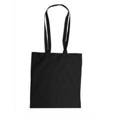 . Bevásárlótáska, vászon, 38x42 cm, fekete