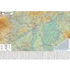Stiefel Falitérkép, 100x140 cm, fémléces, Magyarország autótérképe, STIEFEL