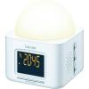 Conrad Beurer WL 30 LED fénnyel ébresztős digitális ébresztőóra, 145x120x120 mm, fehér
