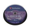 """Verbatim DVD+R lemez, kétrétegű, 8,5GB, 8x, hengeren, VERBATIM """"Double Layer"""" írható és újraírható média"""