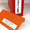APLI Etikett, 38x102 mm, kerekített sarkú, A5 hordozón, APLI, 90 etikett/csomag