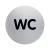 DURABLE Információs tábla -WC- 83mm DURABLE