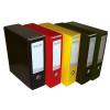 Signum Iratrendező tokos  Premium sárga 8cm (Elegant)