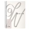 NOTTE Spirálfüzet 6in1 -40-827- Black&White  fehér A/4 180 lap KOCK. N