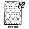 Signum Etikett 60 mm átmérőjű kör alakú  2037058