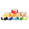 NO NAME Kockatömb+doboz 9x9x6cm fehér, egyszínű doboz