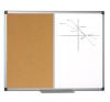 BI-OFFICE Parafa/törölh.mágneses tábla alu.keret 90x120cm -XA0503170- BI-O parafatábla