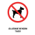 NO NAME Információs matrica - TI106 - 160x250 mm Állatokat behozni tilos