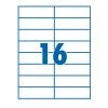 SilverBall Etikett 105x37mm 16címke/lap SilverBall <100lap/dob>