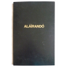 No-name Aláírókönyv B4 grabolit borítással FEKETE