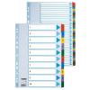 ESSELTE Regiszter -100161-MYLAR karton A4 1-10 ESSELTE <10csom/dob>