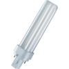 Conrad Kompakt fénycső, energiatakarékos fénycső, 13 W, melegfehér, cső forma, 230 V, G24d, 2 PIN, Osram DULUX D Plus