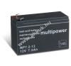 Multipower Tűzvédelmi-készülék akku (Multipower) MP7,2-12 - VDS-minősítéssel (csatlakozó: F1) szerszámgép akkumulátor