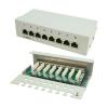 Conrad 8 portos CAT6 patch panel RAL7035, LogiLink NP0016A