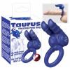 Taurus - duplamotoros péniszgyűrű (kék)