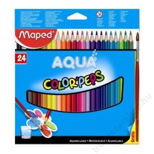 MAPED Color Peps akvarell ceruza készlet, ecsettel, 24 különböző szín színes ceruza