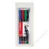 STABILO Alkoholos marker készlet, 0, 7 mm, STABILO OHPen F, 4 szín (TST842V4)