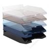VICTORIA Irattálca, műanyag, VICTORIA, áttetsző kék (IDTAK)