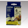 Brother Feliratozógép szalag, 6 mm x 8 m, BROTHER, fehér-fekete (QPTTZ211)